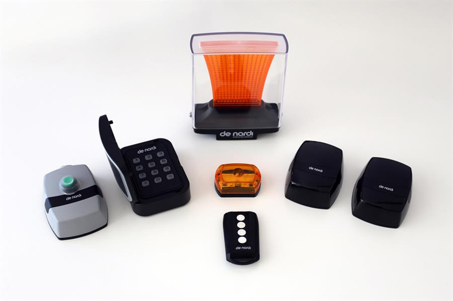 Wireless keypad digital combination, LED wall flashing light, photocells, two-channel and four-photocells