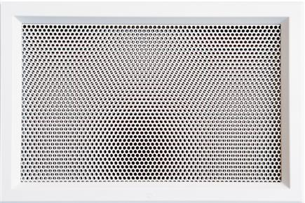 Ventilation grill. Available in sizes of 48 x 9,8 cm and 52,5 x 35 cm, in white and black colors; on request they are painted in any RAL color