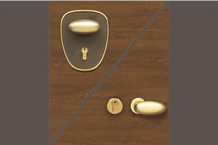 Satined brass with plate (excluded model Quadra-B)